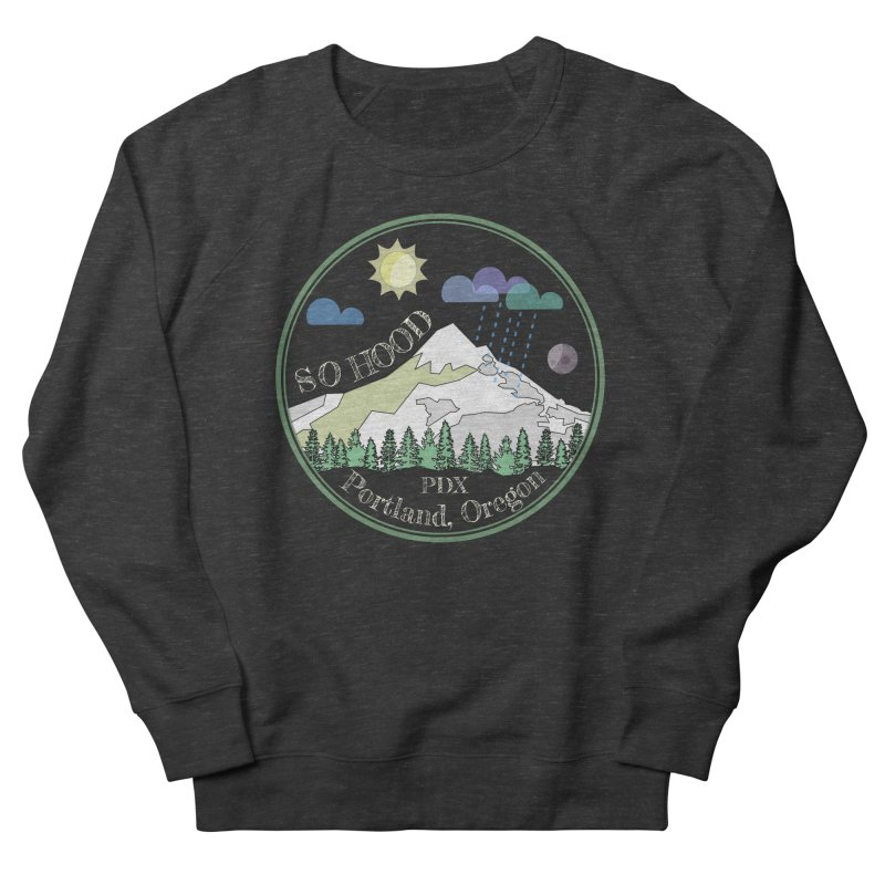 Mt. Hood [Day, transparent background, light text] Men's Sweatshirt by Northern Limit