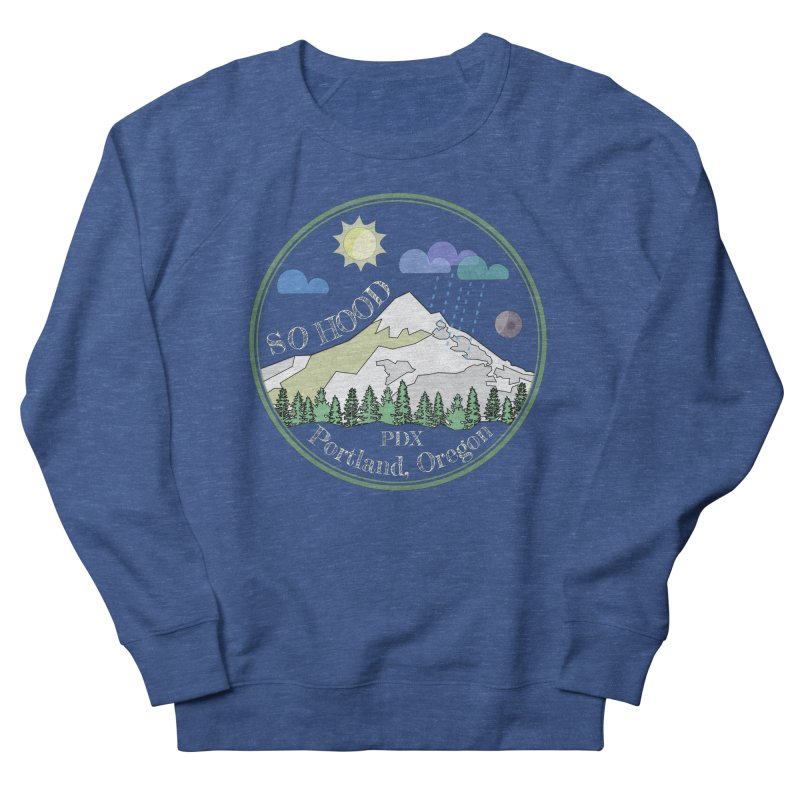 Mt. Hood [Day, transparent background, light text] Men's French Terry Sweatshirt by Northern Limit