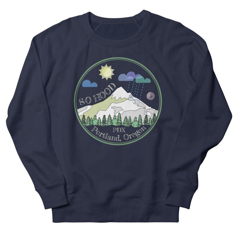 Mt. Hood [Day, transparent background, light text] Men's Sweatshirt by Northern Limit