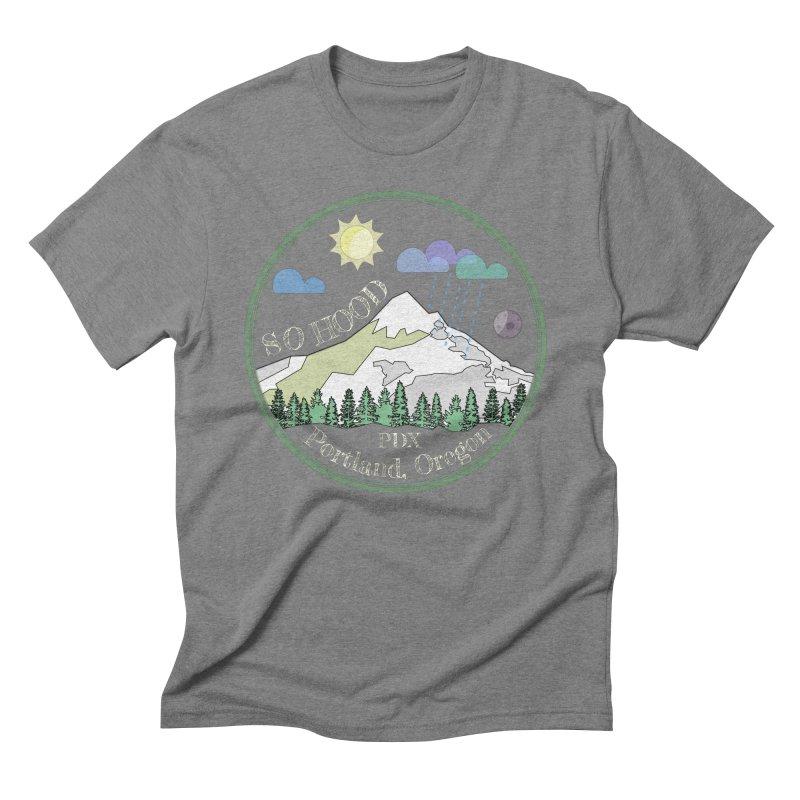 Mt. Hood [Day, transparent background, light text] Men's Triblend T-Shirt by Northern Limit