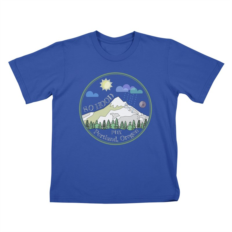 Mt. Hood [Day, transparent background, light text] Kids T-Shirt by Northern Limit