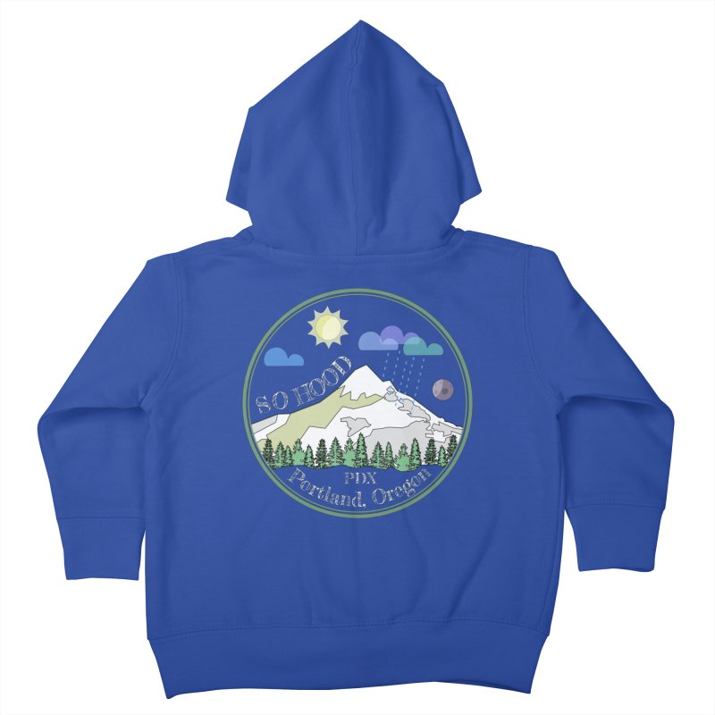 Mt. Hood [Day, transparent background, light text] Kids Toddler Zip-Up Hoody by Northern Limit