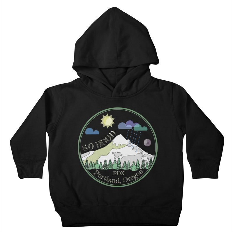Mt. Hood [Day, transparent background, light text] Kids Toddler Pullover Hoody by Northern Limit