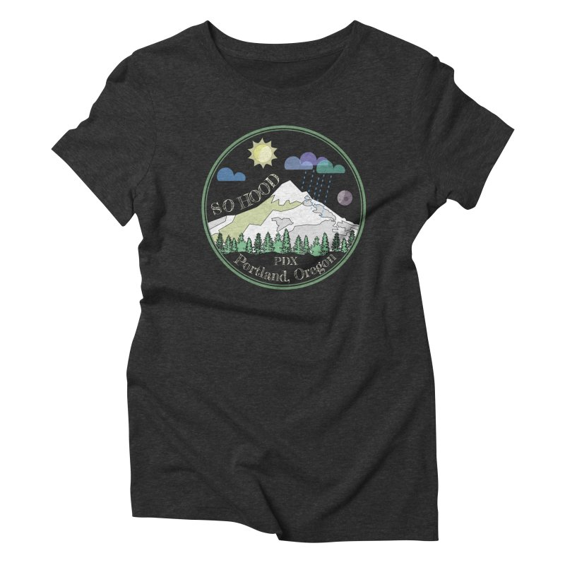 Mt. Hood [Day, transparent background, light text] Women's Triblend T-Shirt by Northern Limit