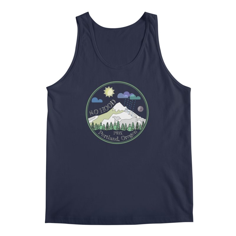 Mt. Hood [Day, transparent background, light text] Men's Regular Tank by Northern Limit