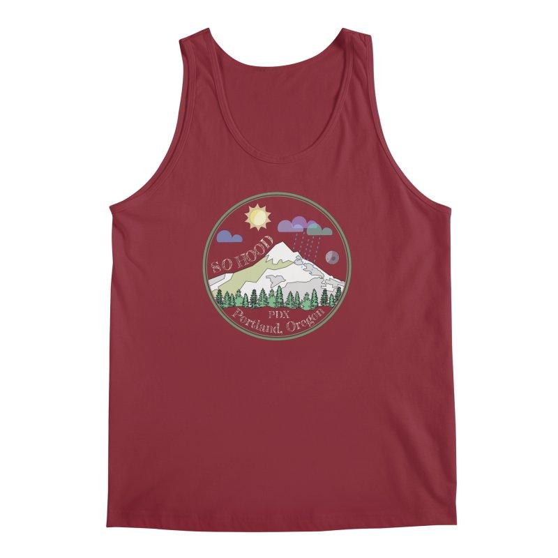 Mt. Hood [Day, transparent background, light text] Men's Regular Tank by Northern Limit