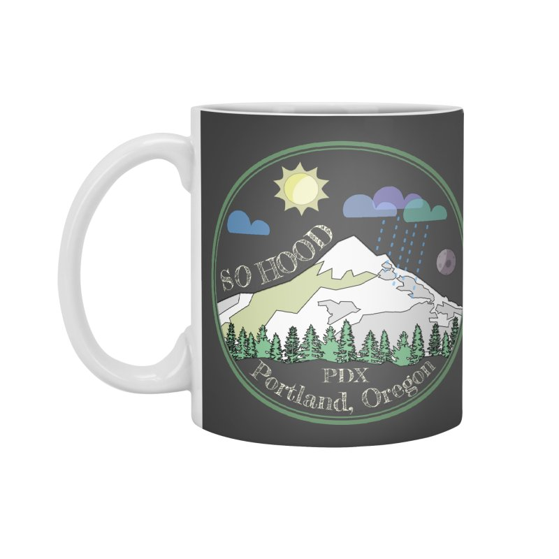 Mt. Hood [Day, transparent background, light text] Accessories Mug by Northern Limit