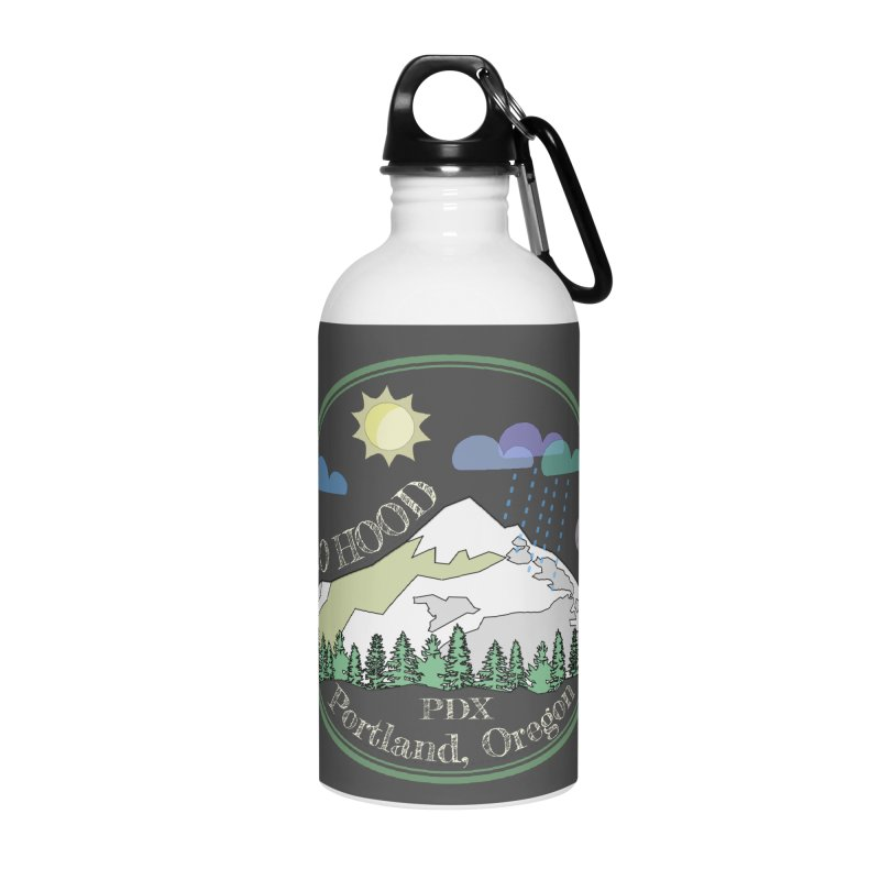 Mt. Hood [Day, transparent background, light text] Accessories Water Bottle by Northern Limit