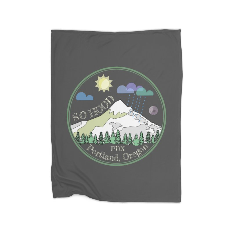 Mt. Hood [Day, transparent background, light text] Home Blanket by Northern Limit