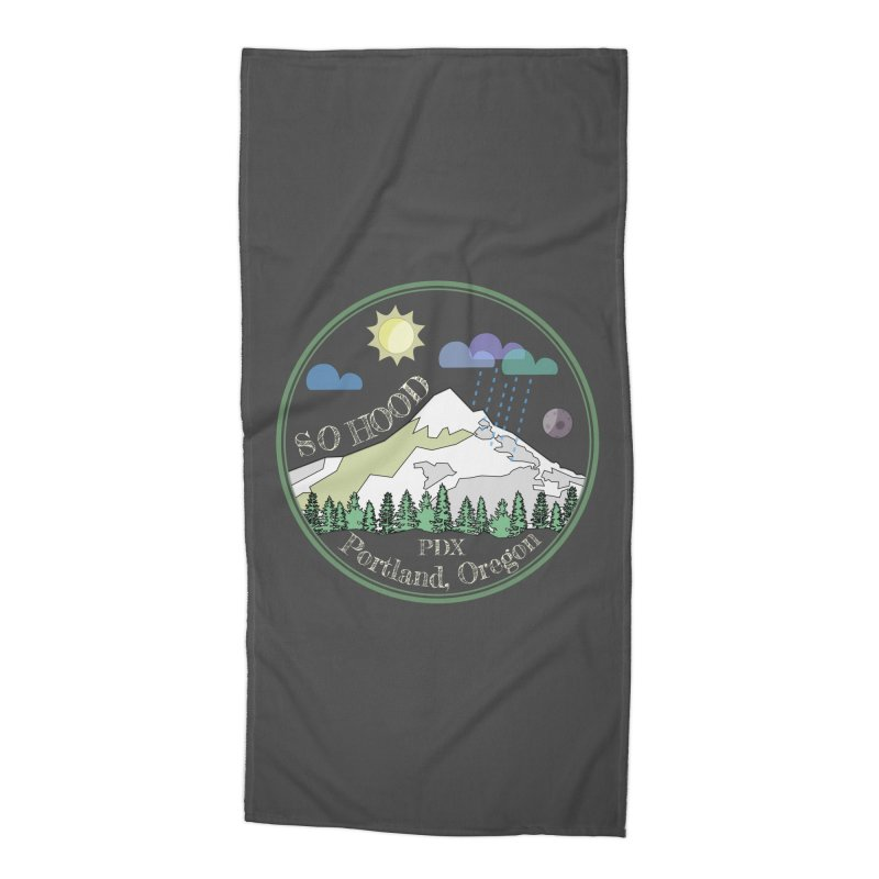 Mt. Hood [Day, transparent background, light text] Accessories Beach Towel by Northern Limit