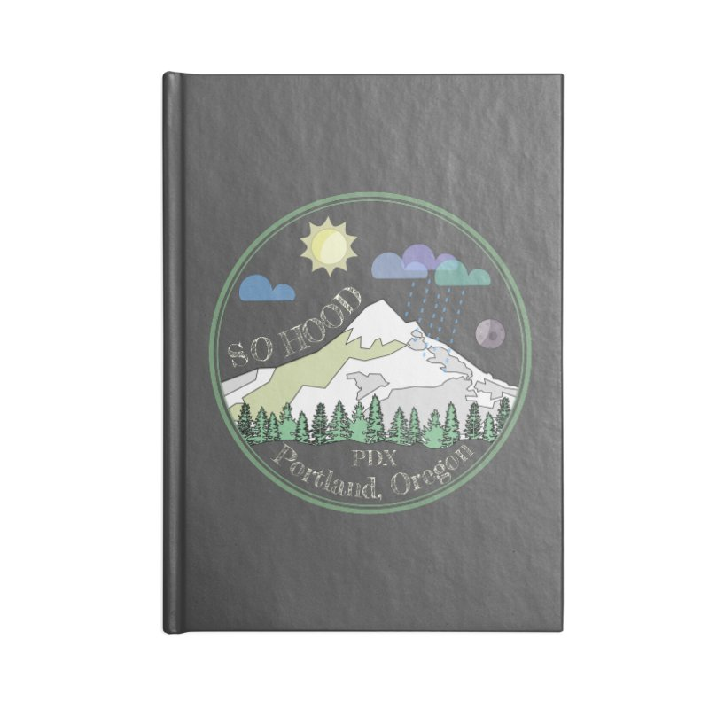 Mt. Hood [Day, transparent background, light text] Accessories Notebook by Northern Limit