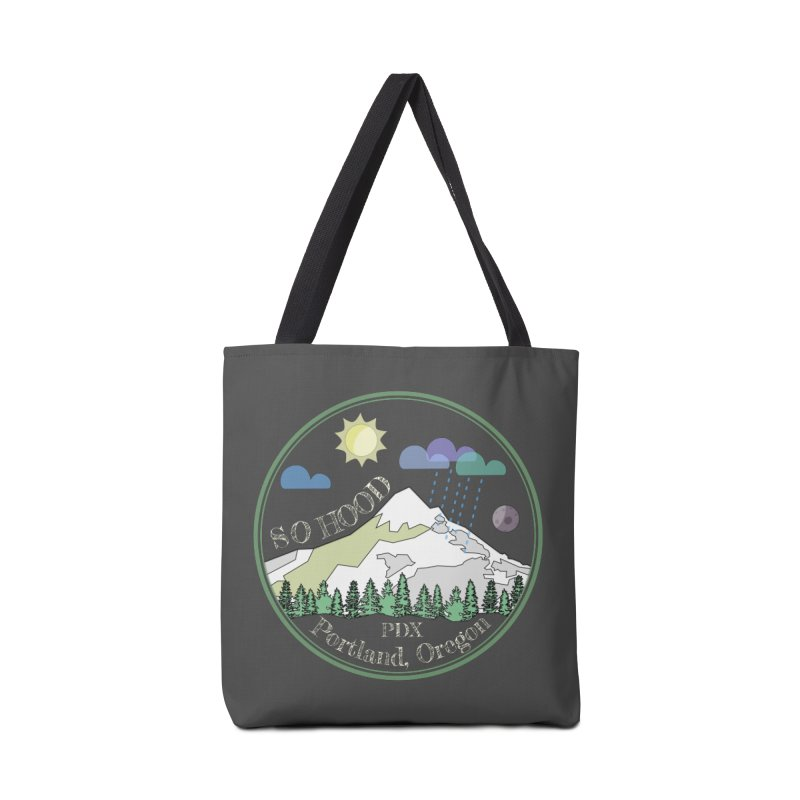 Mt. Hood [Day, transparent background, light text] Accessories Bag by Northern Limit
