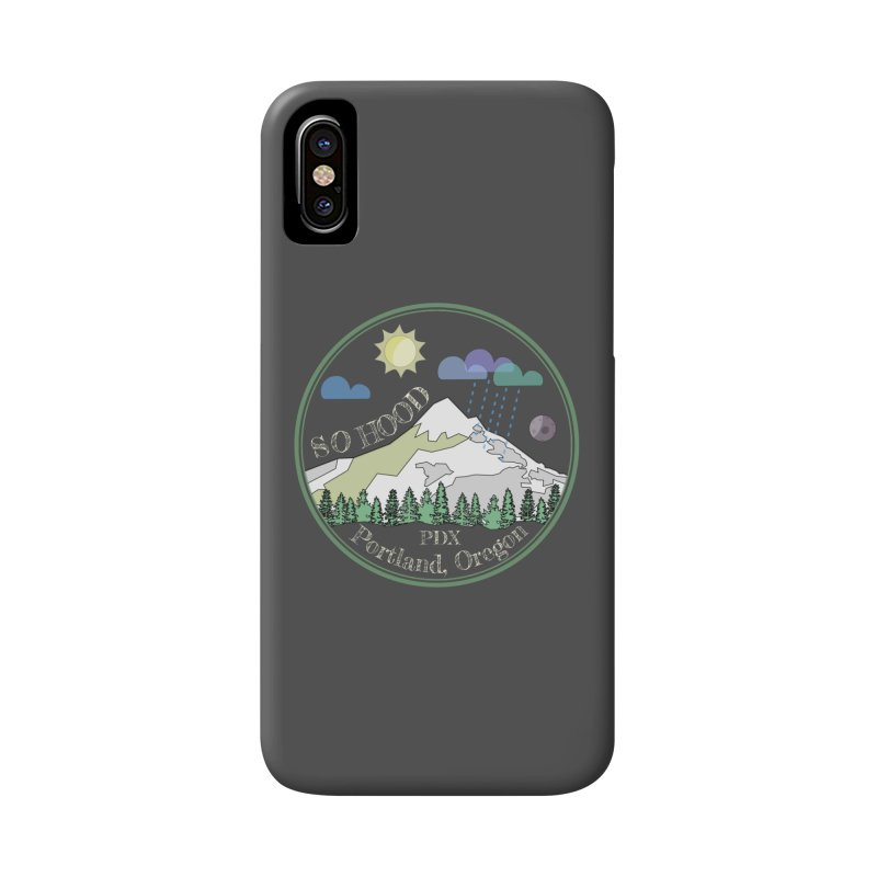 Mt. Hood [Day, transparent background, light text] Accessories Phone Case by Northern Limit