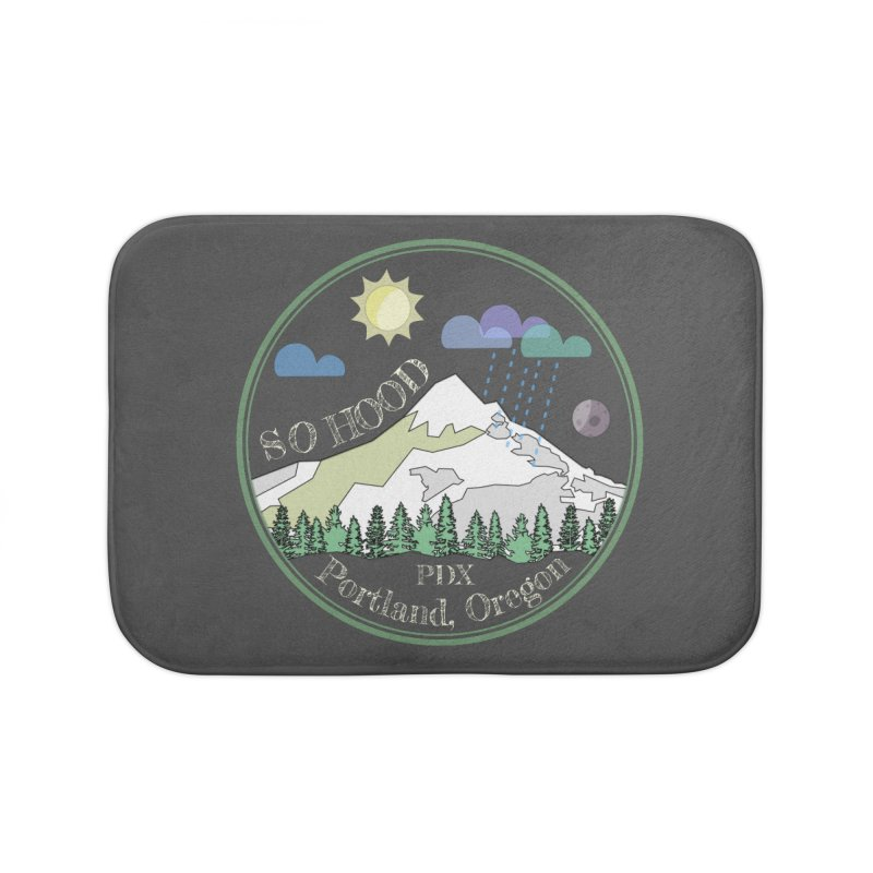 Mt. Hood [Day, transparent background, light text] Home Bath Mat by Northern Limit