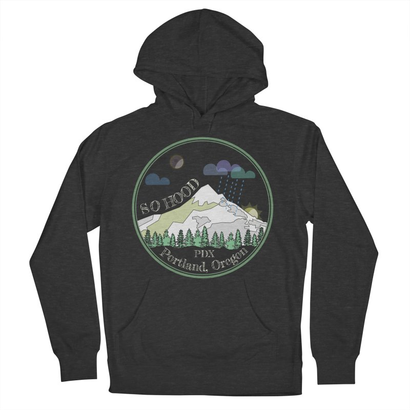 Mt. Hood [Night, transparent background, light text] Women's Pullover Hoody by Northern Limit