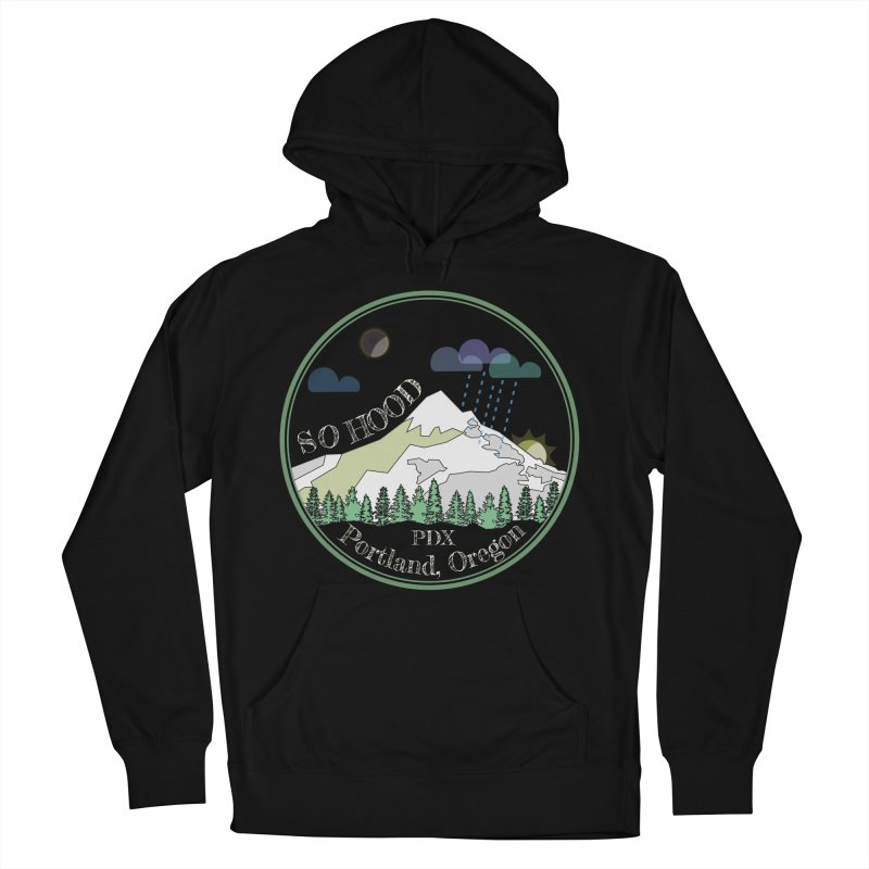 Mt. Hood [Night, transparent background, light text] Women's French Terry Pullover Hoody by Northern Limit