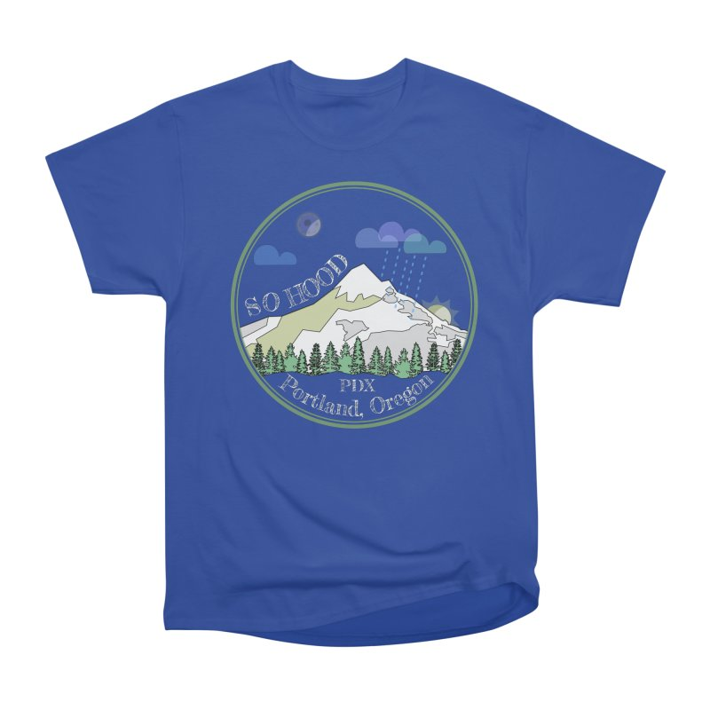 Mt. Hood [Night, transparent background, light text] Women's Classic Unisex T-Shirt by Northern Limit