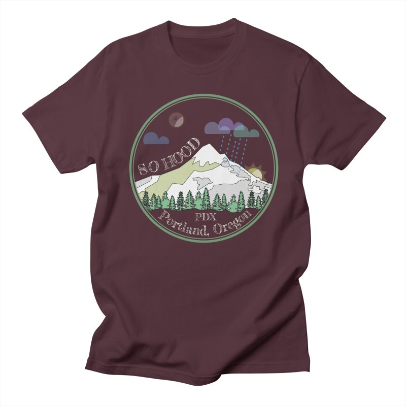 Mt. Hood [Night, transparent background, light text] Women's Regular Unisex T-Shirt by Northern Limit