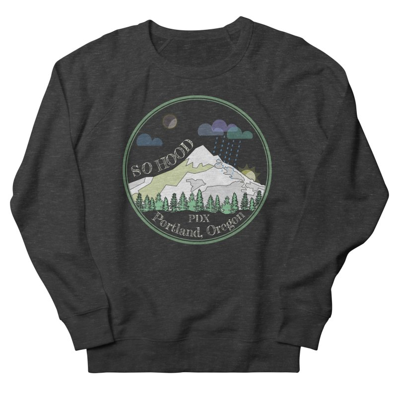 Mt. Hood [Night, transparent background, light text] Women's French Terry Sweatshirt by Northern Limit