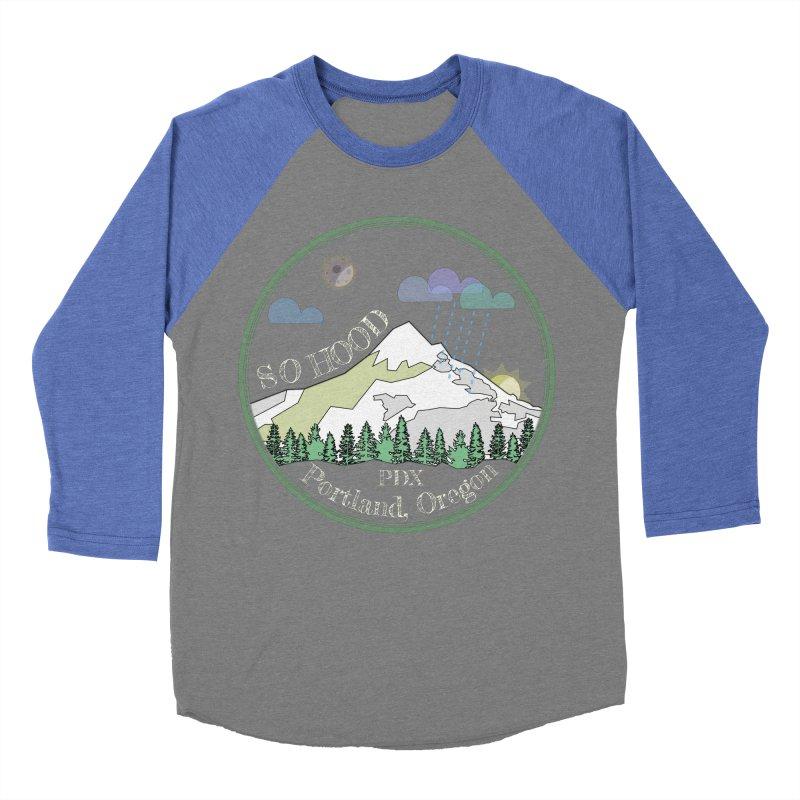 Mt. Hood [Night, transparent background, light text] Women's Baseball Triblend T-Shirt by Northern Limit