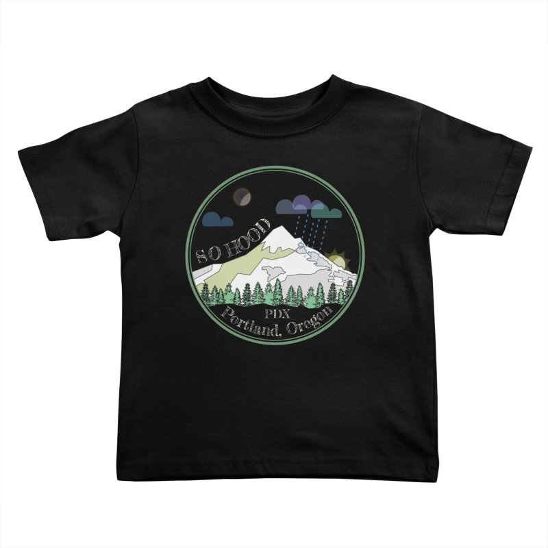 Mt. Hood [Night, transparent background, light text] Kids Toddler T-Shirt by Northern Limit