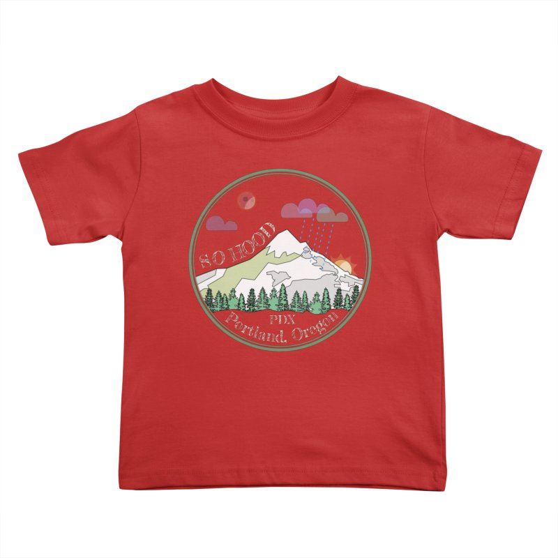 Mt. Hood [Night, transparent background, light text] Kids Toddler T-Shirt by Northern Limit