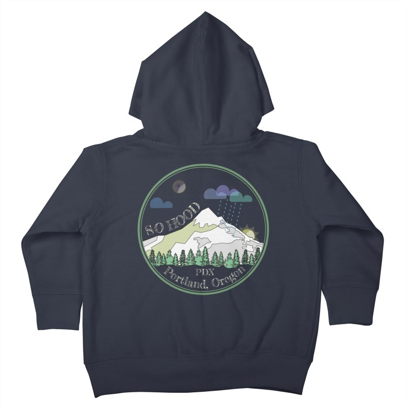 Mt. Hood [Night, transparent background, light text] Kids Toddler Zip-Up Hoody by Northern Limit