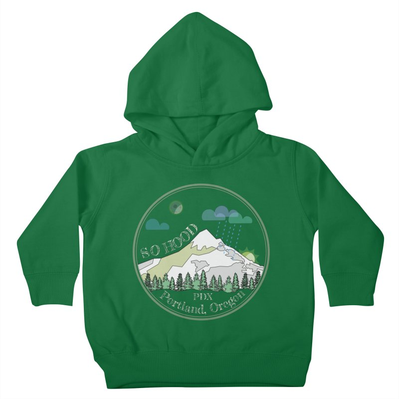 Mt. Hood [Night, transparent background, light text] Kids Toddler Pullover Hoody by Northern Limit