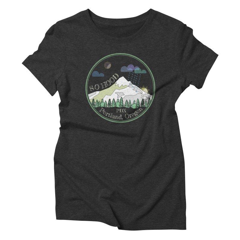 Mt. Hood [Night, transparent background, light text] Women's Triblend T-Shirt by Northern Limit