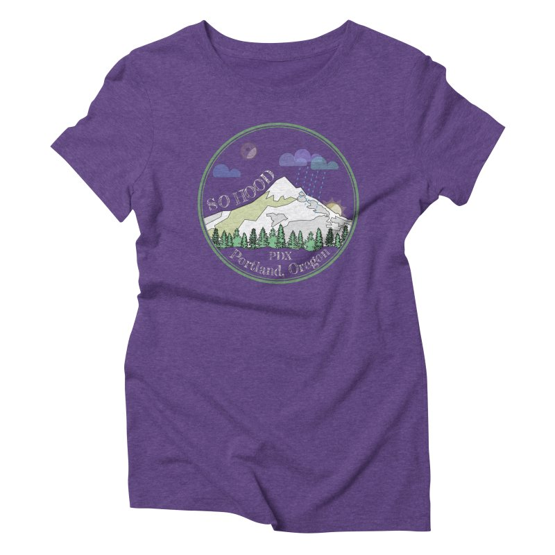 Mt. Hood [Night, transparent background, light text] Women's Triblend T-Shirt by Northern Limit