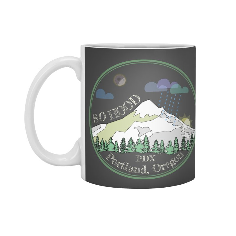 Mt. Hood [Night, transparent background, light text] Accessories Standard Mug by Northern Limit