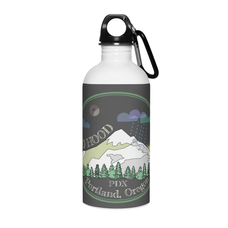Mt. Hood [Night, transparent background, light text] Accessories Water Bottle by Northern Limit