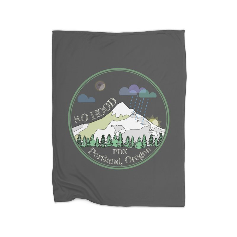 Mt. Hood [Night, transparent background, light text] Home Blanket by Northern Limit