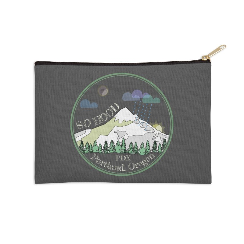 Mt. Hood [Night, transparent background, light text] Accessories Zip Pouch by Northern Limit