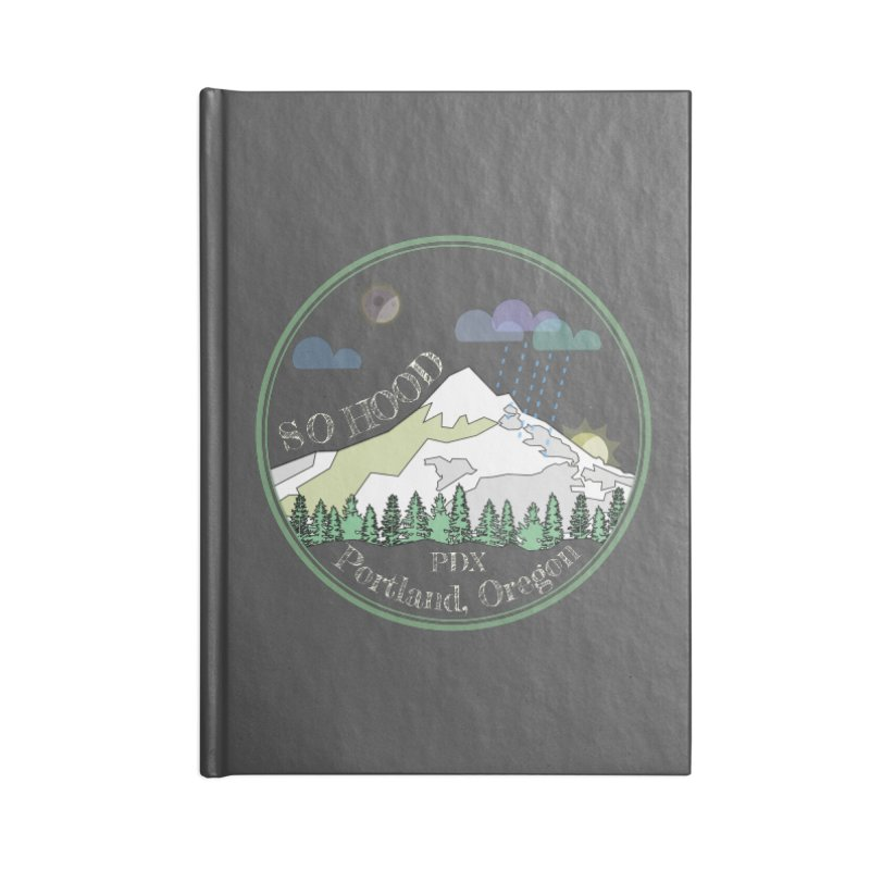 Mt. Hood [Night, transparent background, light text] Accessories Notebook by Northern Limit