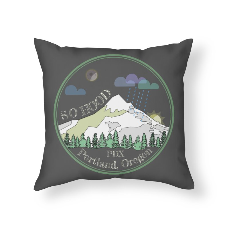 Mt. Hood [Night, transparent background, light text] Home Throw Pillow by Northern Limit