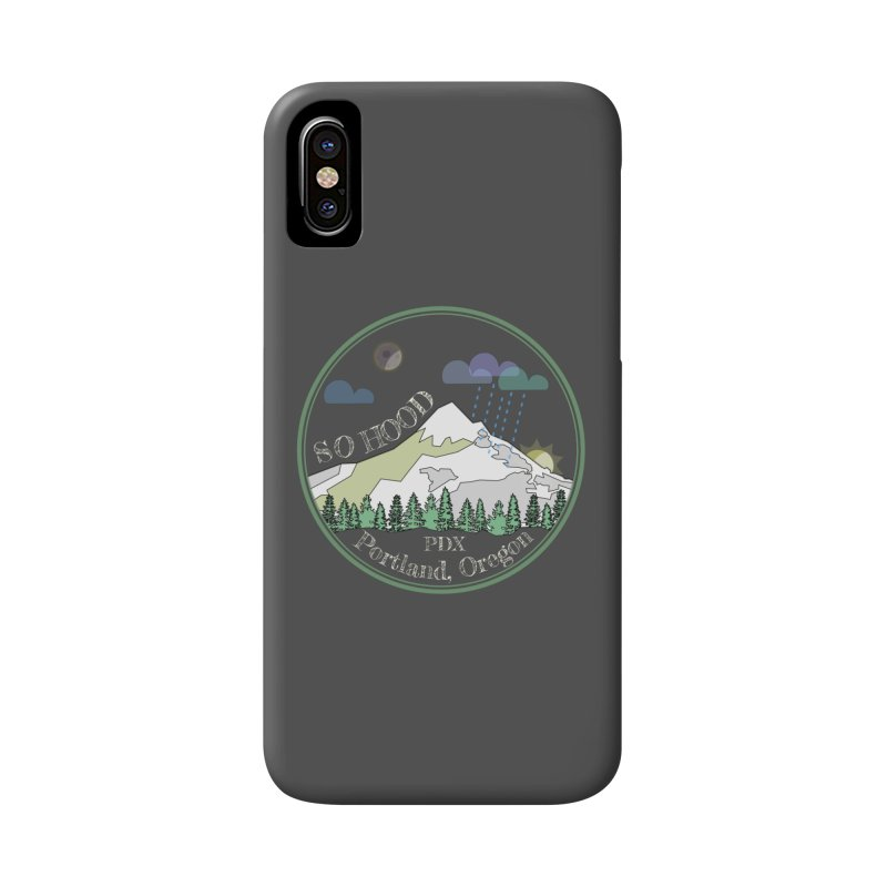 Mt. Hood [Night, transparent background, light text] Accessories Phone Case by Northern Limit