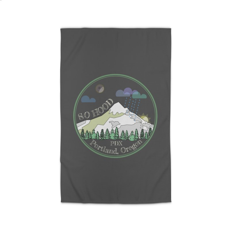 Mt. Hood [Night, transparent background, light text] Home Rug by Northern Limit