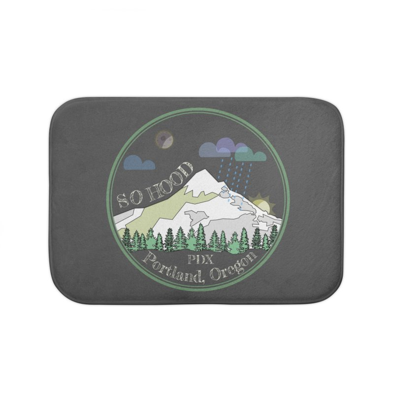 Mt. Hood [Night, transparent background, light text] Home Bath Mat by Northern Limit