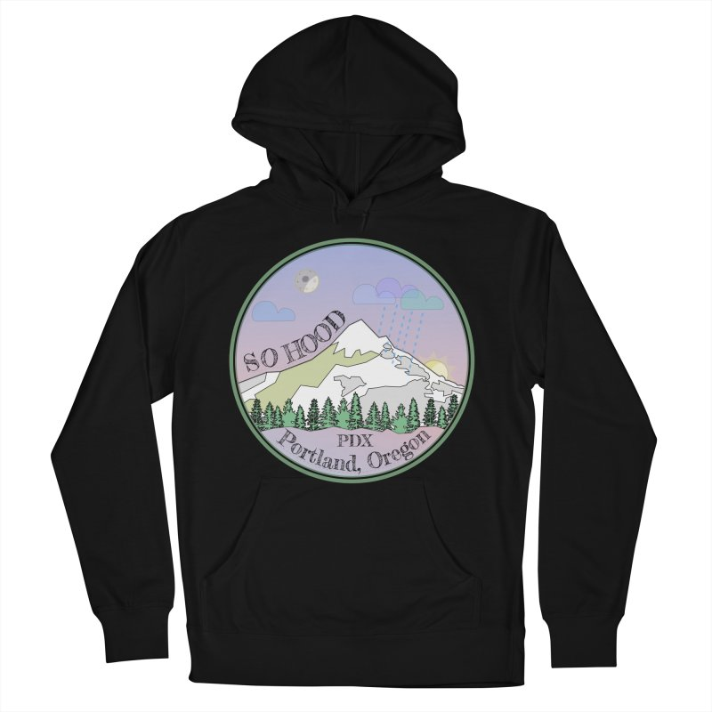 Mt. Hood [Night] Women's French Terry Pullover Hoody by Northern Limit