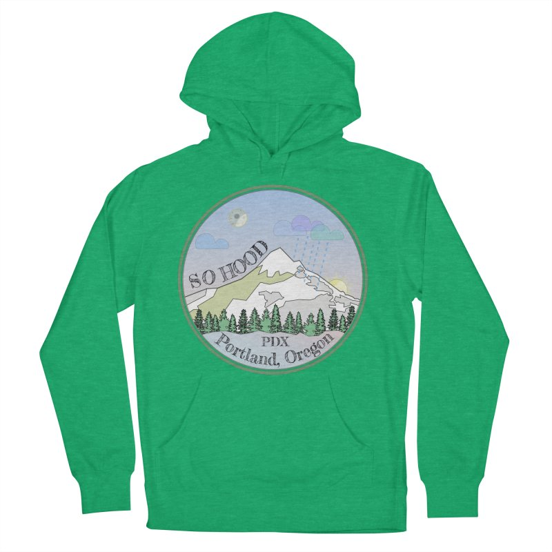Mt. Hood [Night] Men's French Terry Pullover Hoody by Northern Limit