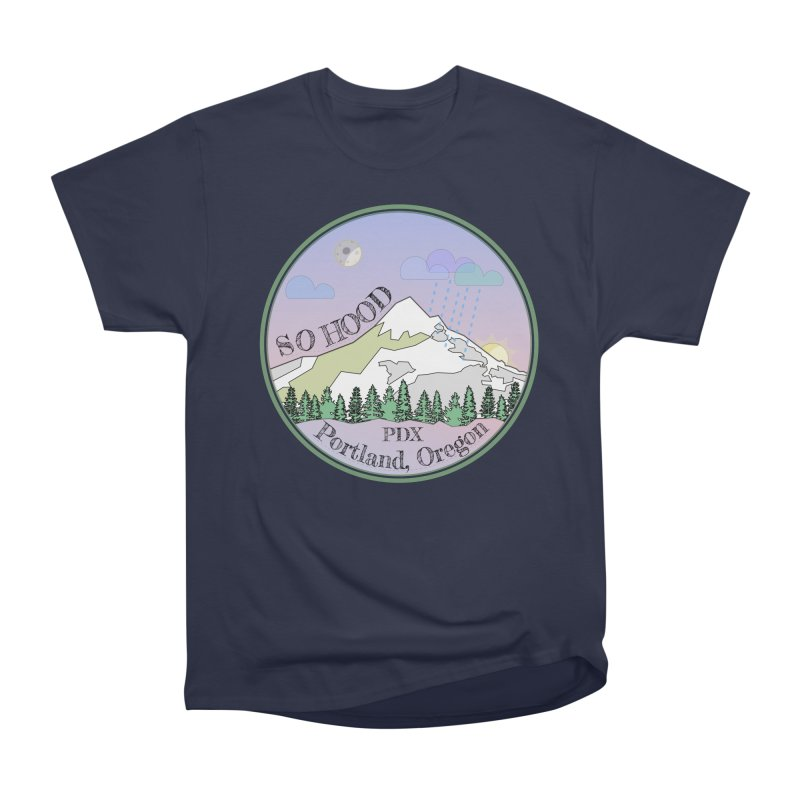Mt. Hood [Night] Women's Heavyweight Unisex T-Shirt by Northern Limit