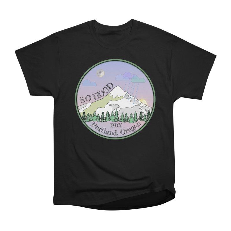 Mt. Hood [Night] Men's Heavyweight T-Shirt by Northern Limit
