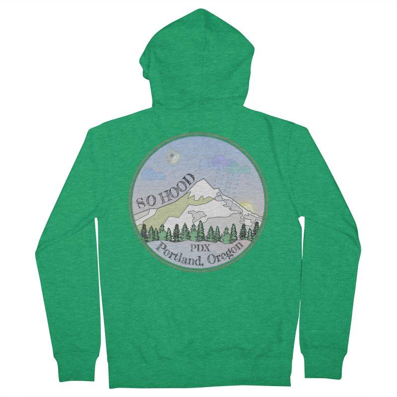 Mt. Hood [Night] Women's Zip-Up Hoody by Northern Limit