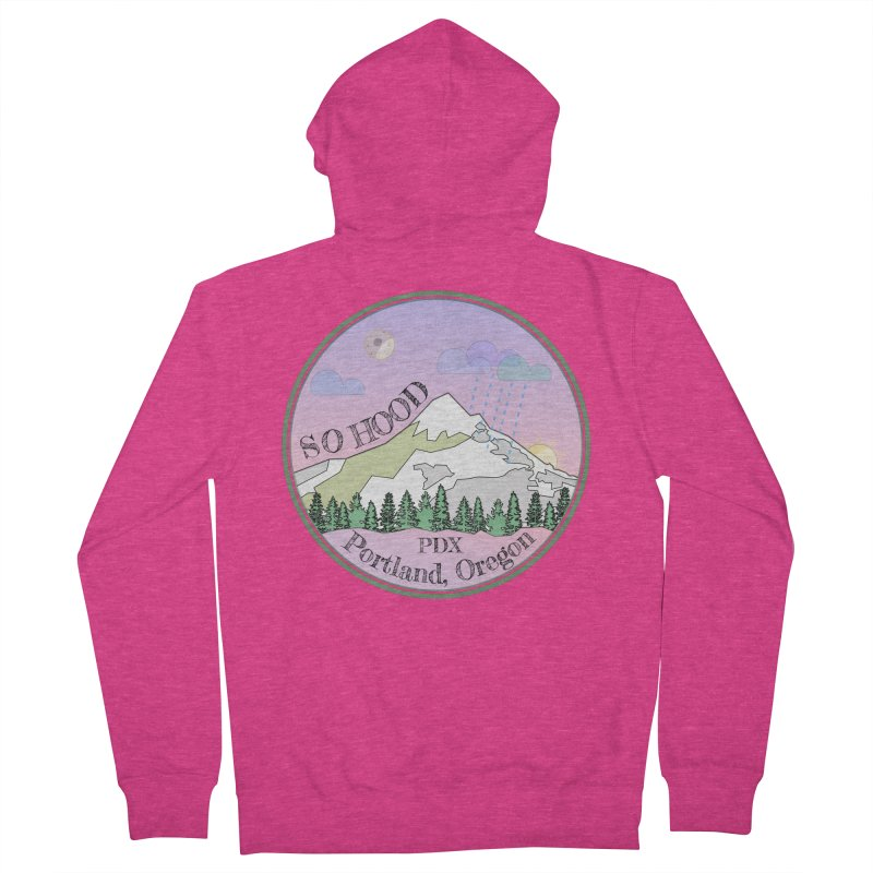 Mt. Hood [Night] Women's French Terry Zip-Up Hoody by Northern Limit