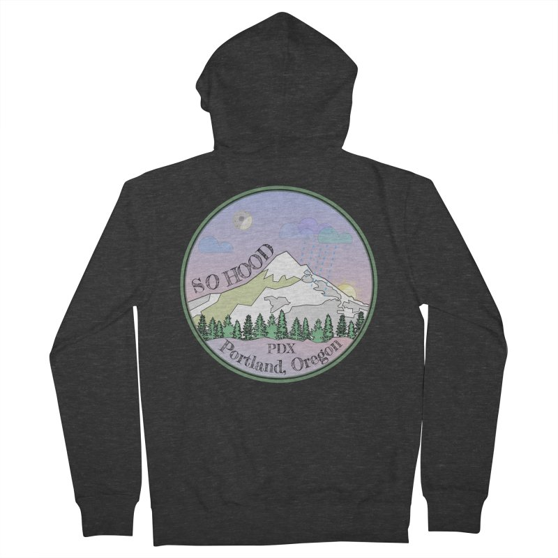 Mt. Hood [Night] Men's French Terry Zip-Up Hoody by Northern Limit
