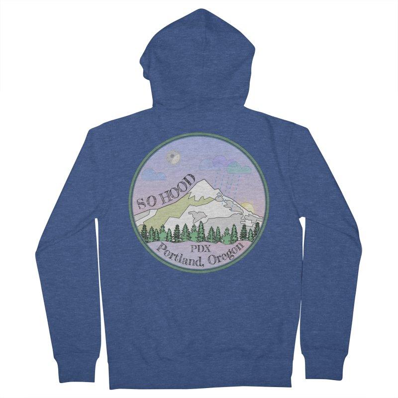 Mt. Hood [Night] Men's Zip-Up Hoody by Northern Limit