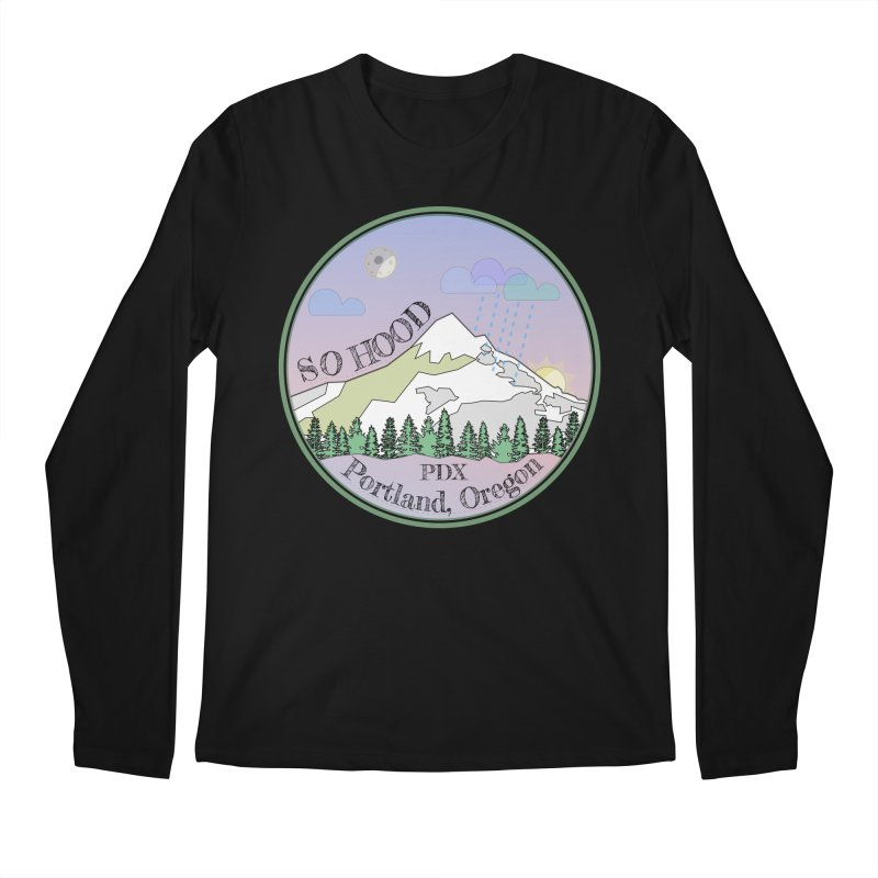 Mt. Hood [Night] Men's Longsleeve T-Shirt by Northern Limit