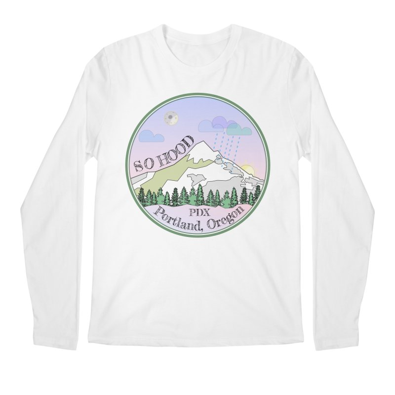 Mt. Hood [Night] Men's Regular Longsleeve T-Shirt by Northern Limit