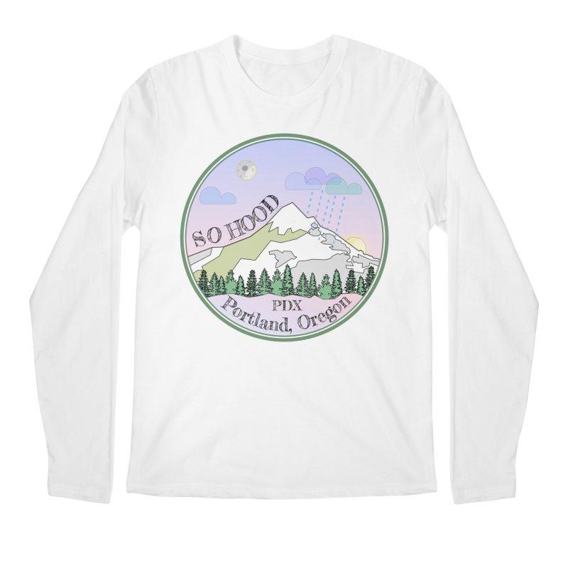 Mt. Hood [Night] Men's Regular Longsleeve T-Shirt by Northern Limit